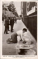 London Life. A Woman Pavement Artist, Kingsway by Rotary # 10513-28.