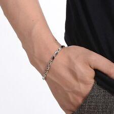 Herrenarmband Edelstahl Armband Silber Armreif Armkette Armbänder Gliederkette