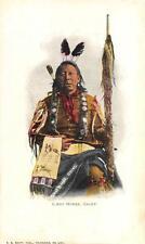 LAST HORSE INDIAN CHIEF POSTCARD (c. 1900)