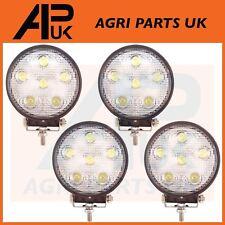 4 X 18W LED Trabajo Luz Lámpara 12V luz de inundación 24V Redonda Remolque Offroad 4X4 SUV