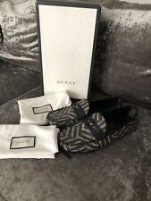 Gucci Mens Shoes Black Horsebit Loafers Drivers UK 10 US 10.5 44