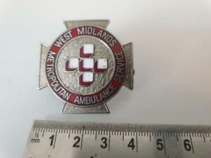 Obsolete West Midlands Metropolitan Ambulance Service Enamel Cap / Hat Badge