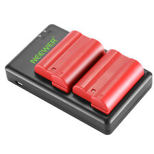 Neewer 2x Li-ion Battery Replacement for Nikon EN-EL15 for Nikon D800 D7000 D610