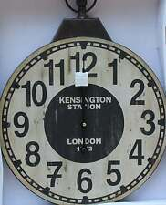 "English Style  Metal/wood ""Kensington Station""  FOB   Wall Clock  BRAND NEW"