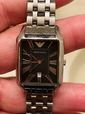 Emporio Armani Ladies  AR0414 Stainless Steel Watch, New Battery