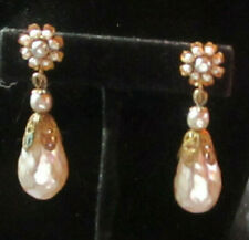 Miriam Haskell Earrings Faux Pearl Accent Vintage