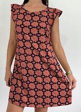 PRINCESS HIGHWAY Orange Blue Retro Floral Print Cap Sleeve Dress Plus Size AU 16