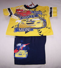 Disney Pixar Cars Frosty McQueen Boys Yellow Navy Printed Pyjama Set Size 3 New