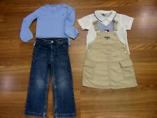 TOMMY HILFIGER Girls Lot Size 4 4T Jeans Shirt Overalls Skirt Vintage Cargo Styl