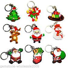 10 Wholesale Xmas Chrismas Santa Claus Keyrings Key Chains Christmas Gifts