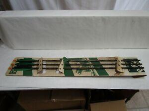 Lot of 3- Vintage Bear Archery 2216 Aluminum Arrows w/ Orig. Cardboard Backer