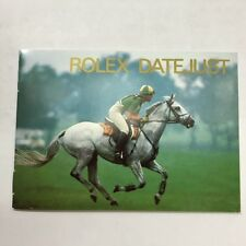 Rolex Vintage 1994 Datejust Booklet Owners Manual English