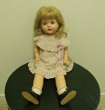 ANTIQUE VINTAGE AMERICAN CHARACTER PETITE SALLY COMPOSITION DOLL, TIN EYES, 20""