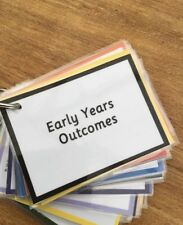**PERFECT FOR EYFS TEACHERS** Outcomes Keyring/mini Booklet Template