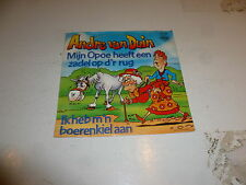 """ANDRE VAN DUIN - Mijn Opoe Heeft Een Zadel - 1985 Dutch 7"""" Juke Box Vinyl Single"""