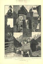 Engadin & Tyrol. Finstermünz Landeck Scuol (Schuls) St. Moritz Pontresina 1891