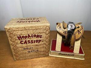 Vintage 1950's Hopalong Cassidy Ingersoll Wrist Watch & Box