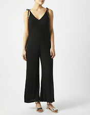 Monsoon Paloma Jersey Jumpsuit Black Size L LF078 HH 04