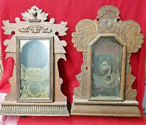 Two (2) Americn Victorian Kitchen Clock Cases