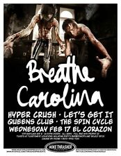 BREATHE CAROLINA 2010 Gig POSTER Seattle Washington Concert
