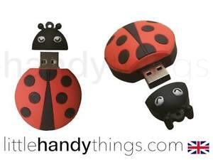 Cute Red/Black Ladybird Novelty USB Flash Drive Pen Memory Stick Gift