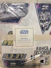 Pottery Barn Kids Han Solo Twin Sheet Set NIP Star Wars Millennium Falcon