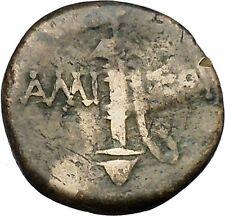 AMISOS in PONTUS Asia Minor 200BC Ares Sword Ancient Greek Coin i46468