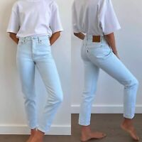 Levi's Women's 501 Skinny Jeans High Rise Light Wash Size 27 x 30 Faint Hearted