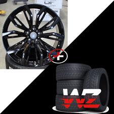 """20"""" 375 Style Wheels fits BMW X5 X6 X5M X6M Gloss Black Finish Rims w/ Tires"""