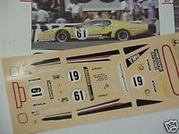 FERRARI 512 BB BELGE 24h LE MANS 1979 DECAL 1/43