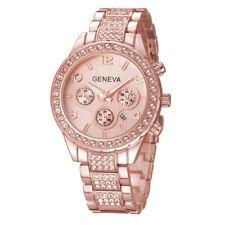UK Women Ladies Luxury Rhinestone Stainless Steel Wrist Watch Gift Analog Quartz