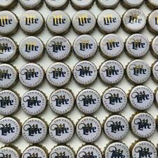 50 Miller Lite White/Gold Beer Bottle Caps
