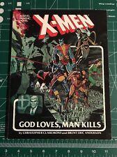 Marvel Graphic Novel 5 X-men God Loves, Man Kills Uncanny 1st Print 1982