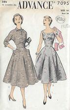 "1950s Vintage Sewing Pattern DRESS & JACKET B34"" (R20)"