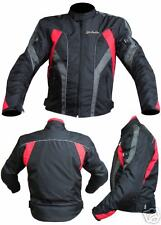 Giacca Moto in Cordura JF-Pelle Black/Red mod. 3106