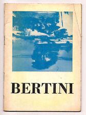 GIANNI BERTINI 1957 GALLERIA BLU MILANO RESTANY RUSSOLI