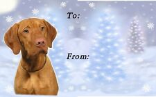 Hungarian Vizsla Christmas Labels by Starprint
