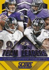 2015 Panini Score, Team Leaders, (Gold), Ravens, Joe Flacco, Elvis Dumervil #11