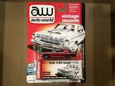 AUTO WORLD 1/64 VINTAGE MUSCLE 1963 DODGE POLARA MAX WEDGE 426 CHASE AW64052-B