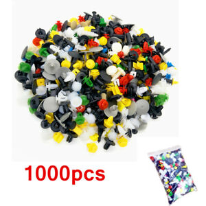 1000x Trunk Screw Rivets Set Car Bumper Fender For Auto Plastic Fastener Clips