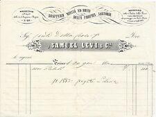DOCUMENTO ORIGINALE_FATTURA_SAMUEL LEVI E C_DRAPPERIE_ABITI SARTORIA_TORINO 1852
