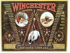 WINCHESTER BULLET BOARD - RIFLES SHOTGUNS AMMUNITION - COLLECTIBLE TIN  SIGN