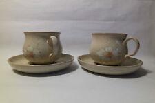 Decorative Denby Stoneware Cups & Saucers