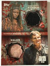 The WALKING DEAD - MICHONNE & WALKER - Dual Blood RED Relic Costume Card No. 1/1