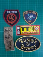 Isle of Man TT Motorcycle Biker/Bushy's Brewery Patches/badges & Stickers