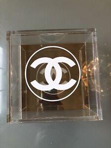 Chanel Home Decor Lucite Clear Box