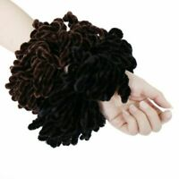 1Pc Muslim Women Fluffy Velvet Hijab Scrunchies Solid Color Plain Big Hair  #ehe
