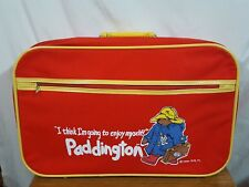 Vtg Paddington Bear Suitcase Eden Toys Inc Kids Children Travel Luggage - Red