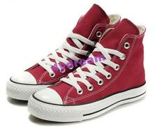 Girls Women High Top Lace Up Canvas Sport Sneakers Athletic Multi Color Shoes