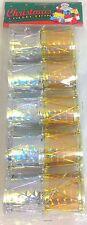 30 ALBERO DI NATALE decorationg TAMBURI 2Colours argento, oro da appendere VINTAGE NUOVO